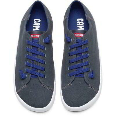 £64.99 • Buy Camper 18869-069 Peu Rambla Mens Lace Up Grey Canvas Trainers Shoes Size UK 7-12