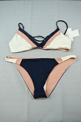 $ CDN86.24 • Buy L*Space Bodhi And Johnny Reversible Bikini Set, Women's Size L, Navy/Pink NEW