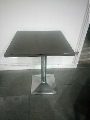 Dark Brown Second Hand Cafe Tables On A Chrome Stand • 15£