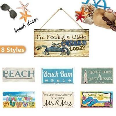 Beach Signs Hanging Plaques Wooden Signs House Seaside Decors 3.9×7.8 Inch • 3.88£
