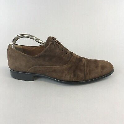 Moreschi Russell & Bromley Chicago Brown Suede Lace Up Dress Shoes Size UK6 • 50.10£