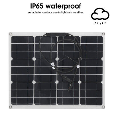 £42.44 • Buy 10-100W Solar Panel Battery Charger System Maintainer Marine Boat Car Waterproof