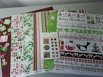 $5.99 • Buy Kaiser Craft Scrapbooking HOME FOR CHRISTMAS Paper And Brads DISCOUNTS AVAILABLE