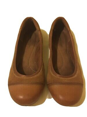 Timberland Ladies Ballet Pumps Tan Leather Size 5.5 • 9.60£