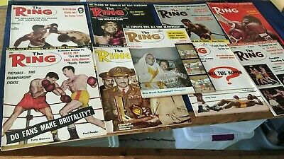 $49 • Buy (9) Issues 1962 RING Boxing Magazines Ray Robinson-Floyd Patterson-Sonny Liston