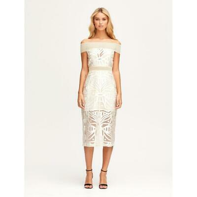 AU100 • Buy Bnwt Alice Mccall Oatmeal Lunar Midi Dress - Size 10 Au/6 Us ($395)
