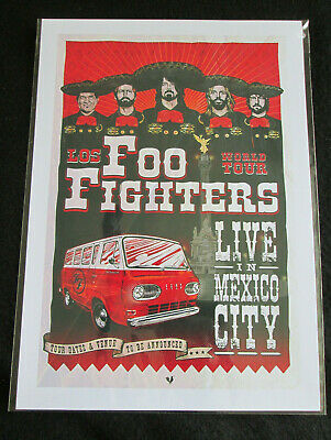 Foo Fighters : Live In Mexico : A4 Glossy Repo Poster • 3.99£