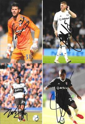 6 SUPERB FULHAM - SIGNED 6 X 4 INCH PHOTOS - Past & Present Players • 1.49£