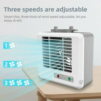 AU23.59 • Buy Portable Mini Air Conditioner Cooler Cooling USB Fan Humidifier Purifier Home