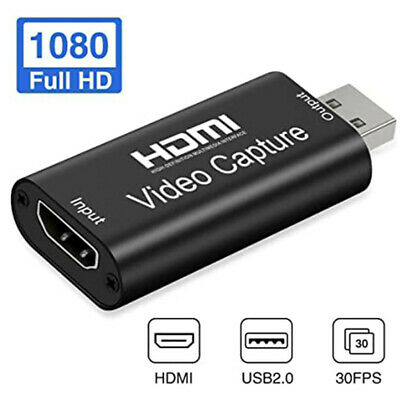 Portable HDMI USB Video Capture Card 1080P HD Recorder Game/Video Live Streaming • 7.45£