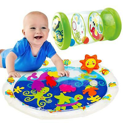 2 In 1 Tummy Time Water Mat & Jungle Roller Set - Sensory Baby Toys For Ages 6m+ • 8.99£