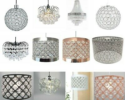 Modern Chandelier Acrylic Crystal Droplet Ceiling Light Shades Lampshade Pendant • 13.90£