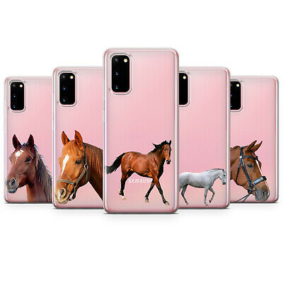 AU10.78 • Buy Horse Clear Phone Case Transparent Animal Cover For Samsung A51 A71 A50 J6