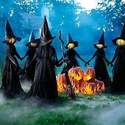 $ CDN68.96 • Buy 1.7m Light-up Witches Halloween Decorations Stand Outdoor Sound Activated Sensor