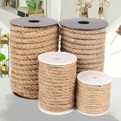 10 Meters Natural Brown Jute Rope Twine String Cords Shank Crafts 4 6 8 10mm E • 4.35£