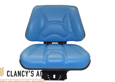 AU170 • Buy New Tractor / Industrial Suspension Seat. Blue, Universal. Suit Ford, MF, Etc.