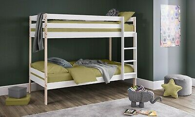 £269.99 • Buy Nova Bunk Bed  2 Tone White And Pine Finish 2 Man Home Delivery By Appointment