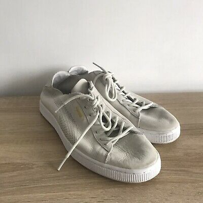 Puma Basket White Off White Cream Size 10 Mens Trainers Suede Clyde States  • 19.99£