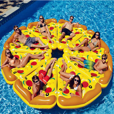 £23.37 • Buy Giant Inflatable Pizza Water Float Raft Swimming Pool Lounger Beach Fun Sports