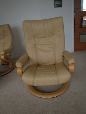 Reclining Leather Armchair And Stool, By Himolla, Germany. The Better Chair. • 20£