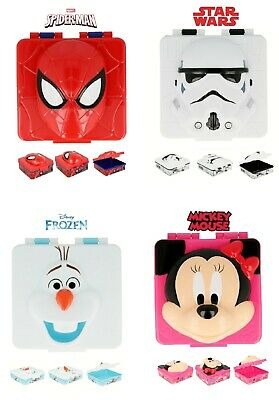 Latest Design Kids 3D Character Lunch Sandwich Snack Box School Licenced Item • 6.98£