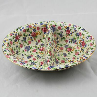 $ CDN101.17 • Buy Royal Winton Grimwades Old Cottage Chintz Divided Serving Bowl 10  England