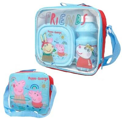 Peppa Pig Insulated Lunch Bag With Sandwich Box And Bottle • 12.99£