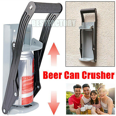 Wall Mount Beer Tin Can Crusher Squasher Heavy Duty Large 16oz 500ml Metal Big • 4.50£