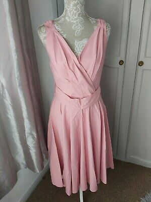 Grace Karin Pink 50s Look  Dress Size L So About 14 Check Measurements  • 10£