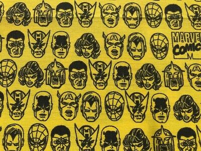 Marvel DC Comic Fat Quarter Fabric, Superheroes, Hulk, Iron Man, 100% Cotton • 3.50£