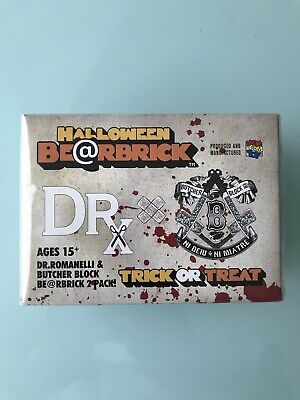 $250 • Buy Medicom Bearbrick X DRX Dr Romanelli & Butcher Block 2x100% Be@rbrick Japan NEW