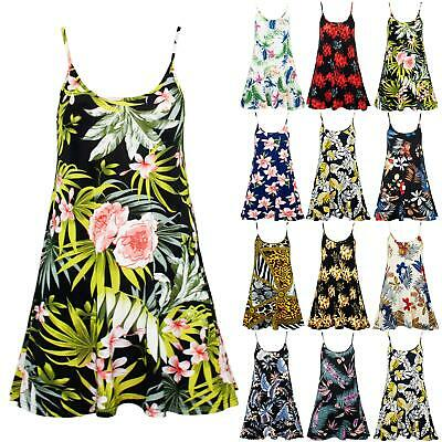 £4.95 • Buy Womens Ladies Camisole Cami Strappy Floral Printed Vest Sleeveless Swing Dress