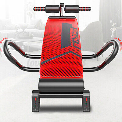 Folding Sit Up Bench Ab Crunch Exercise Bench Decline Fitness Workout Home GB • 54.99£