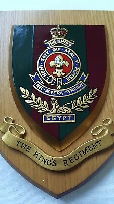Vintage THE KINGS REGIMENT Plaque Shield  • 30£