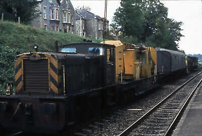 Railway Slide  Ruston & Hornsby Diesel & Electric Shunter PWM651  Keynsham 1975 • 1.99£