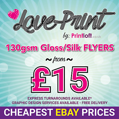 £29 • Buy A5 Flyers Leaflets Printed Full Colour 130gsm - Silk Gloss - A5 Flyer Printing