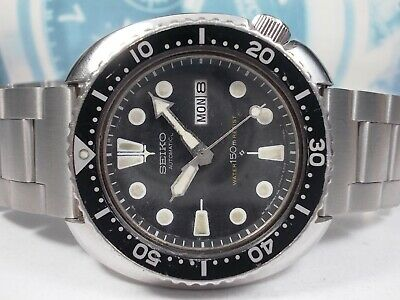 $ CDN31.51 • Buy Seiko 150m Divers 'turtle' Day/date Mens Watch 6309-7040, Orig Suwa (sn 175488)