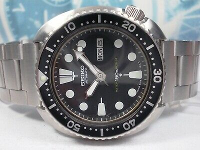 $ CDN4.36 • Buy Seiko 150m Divers 'turtle' Day/date Auto Mens Watch 6309-7040 (sn 040449)