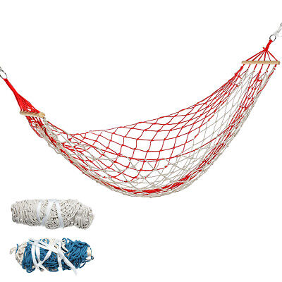 Hammock Chair Hanging Swing Rope Seat Net Chair Tree Outdoor Patio Indoor 120kg • 32.05£
