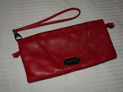 AU35 • Buy Oroton Red Soft Leather Clutch Wallet Purse Wristlet Multipocket Zip Around
