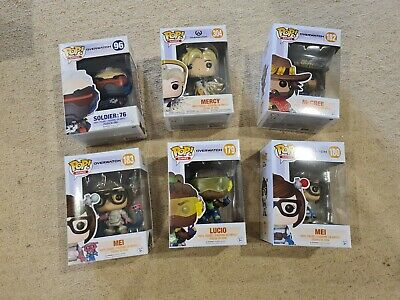 AU20 • Buy Overwatch POP! Vinyls X6 LOT - Soldier 76, Mercy, Lucio, Mei, Mcree - NEW