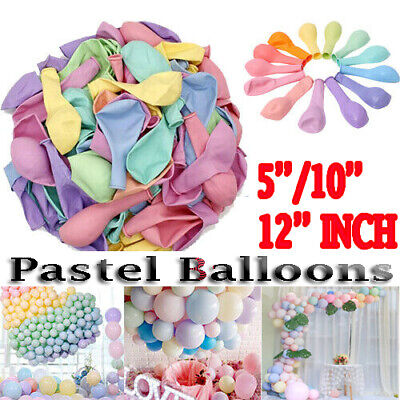 Macaron Pastel Balloons Rainbow Ballons Birthday Baby Shower Party Decoration UK • 4.49£
