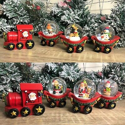Christmas Santa Train With Trio Of Snow Globe Carriages • 21.95£