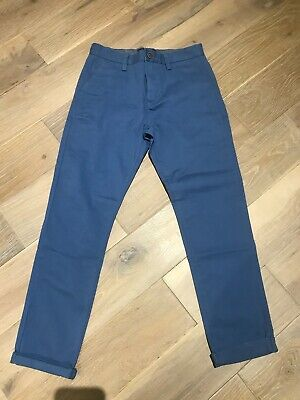 £5 • Buy NEXT Blue Colour Boys Chino Trousers In UK 9 Years