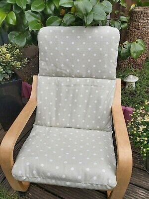 Ikea Poang Kids Chair Cover, Willow Shade Slipcover, Cushion,washable,padded,  • 16£