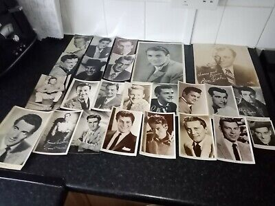 1940s 1950s Autographed And Printed Photos Mostly Usa Movie Stars • 10£