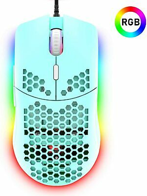 AU26.31 • Buy Lightweight Gaming Mouse RGB Backlit 6400 DPI Honeycomb Shell Mouse For PC PS4