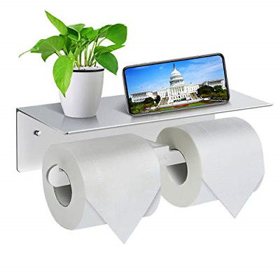 Toilet Roll Holder-Wall Mounted Toilet Paper Roll Holder, Double Rolls Tissue • 15.06£