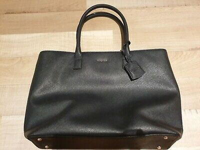AU100 • Buy Oroton Black Leather Tote Bag. Excellent Condition.