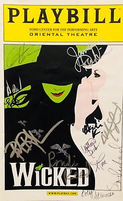 WICKED Signed Playbill Cast X12 Autographed CHICAGO  • 75.97£